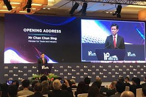 Trade and Industry Minister Chan Chun Sing announced the launch of IPOS International at the opening of an annual conference on Aug 27, 2019.