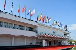 A picture taken on Aug 27 shows the Palazzo del Cinema on the eve of the opening of the 76th Venice Film Festival at Venice Lido.