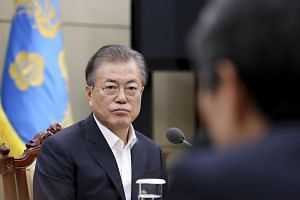 South Korean President Moon Jae-in said in a Cabinet meeting that Japan is being dishonest by insisting that its trade curbs were not retaliation over historical issues.