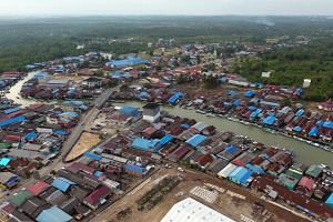 A general view of Samboja, Kutai Kartanegara, a proposed location for the new capital city in East Kalimantan, Indonesia. Construction of the new capital at the eastern edge of Borneo is set to begin next year.