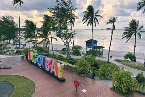 The scenic marathon route at Lagoi Bay at Bintan Resorts.