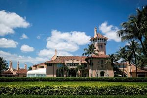 Mar-a-Lago is on the wealthy island of Palm Beach.