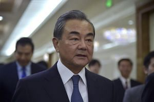 Chinese Foreign Minister Wang Yi arrived in Pyongyang on a three-day trip on Monday, just two months after President Xi Jinping became the first Chinese leader to visit the North in 14 years.