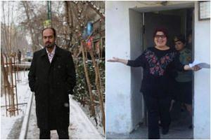Editor-in-chief of monthly Sedaye Parsi political magazine, Masoud Kazemi (left), and Azerbaijani investigative journalist Khadija Ismayilova (right) are mentioned in September's list of