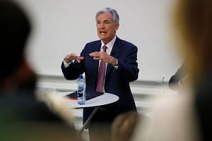 Jerome Powell speaking a panel discussion hosted in Zurich.