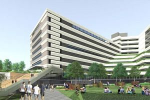 An artist's impression of Singapore Institute of Technology's upcoming campus in Punggol Coast Road.