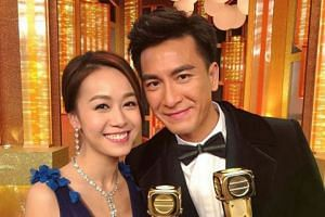 Kenneth Ma (right) had been applauded for his gentlemanly response when the scandal involving then girlfriend Jacqueline Wong (left) and singer Andy Hui broke.