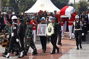 Former Indonesian President Bacharuddin Jusuf Habibie was buried in a state funeral with full military honours on Sept 12, 2019.