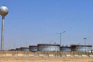 An Aramco oil facility at the edge of the Saudi capital Riyadh, on Sept 15, 2019.