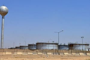 An Aramco oil facility at the edge of the Saudi capital Riyadh.