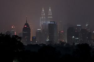 Malaysia's skyline is blanketed by haze in Kuala Lumpur, on Sept 18, 2019.