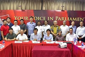 Leaders and key members of seven opposition parties at a meeting last year. They met to discuss the possibility of forming a coalition to contest the next general election. At least three of the parties had also signed a resolution on greater opposit