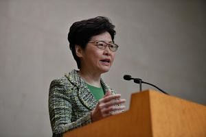 Hong Kong leader Carrie Lam said that about 20,000 people have registered for a town hall-style session that will hold about 150 participants.