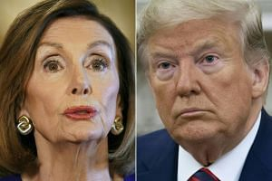 "House Speaker Nancy Pelosi, a Democrat, announced an official impeachment investigation of President Donald Trump at a news conference, declaring ""no one is above the law""."