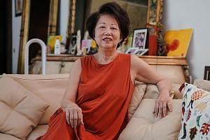 Businesswoman Jannie Chan, 74, the co-founder of luxury watch retailer The Hour Glass, at her home after her release from prison. She had been jailed for contempt of court. Her daughter is in jail for repeated drug abuse.