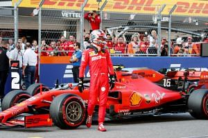 Charles Leclerc clocked a best lap of 1min 31.628sec to improve his time in the final seconds.
