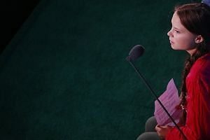Teenage climate activist Greta Thunberg at the United Nations Climate Action Summit last Monday, where she delivered a scathing speech to world leaders, telling them that they have robbed her generation of a future.