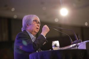 Professor Tommy Koh speaking during the Singapore Bicentennial Conference on Oct 1, 2019. In his speech, he acknowledged that times have changed significantly since the 1960s, when Singapore's founding leaders mobilised people and pushed through visi