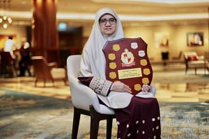 Madam Jamalia Shariff's story won her this year's Exemplary Mother Award, given every year by Jamiyah Singapore to a mother who has shown resilience in overcoming life's challenges.
