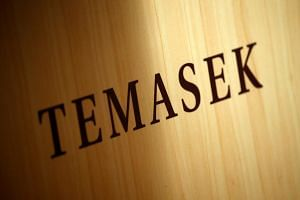 A Temasek logo is seen at the annual Temasek Review in Singapore, on July 7, 2016.