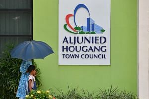 A file photo taken on Oct 4, 2018, showing the exterior of the Aljunied-Hougang Town Council office. The town council is said to have made millions in improper payments under their watch.