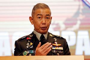Thailand army chief Apirat Kongsompong criticised opposition politicians and academics on Oct 11, 2019.