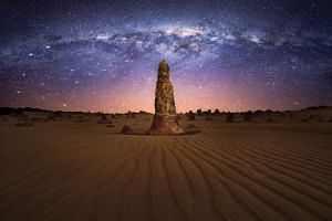 Day or night, the Pinnacles Desert is a photographer's dream destination. PHOTOS: TOURISM WESTERN AUSTRALIA