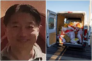 Tse Chi Lop, a Canadian national born in China, is suspected of leading a vast multinational drug trafficking syndicate. Bags containing methamphetamine seen in a van during a police operation in Geraldton, Australia, on Dec 21, 2017.
