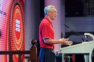 PM Lee speaks at the NTUC National Delegates' Conference at the Orchid Country Club on Oct 15, 2019.