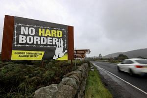 The border crossing between the Republic of Ireland and Northern Ireland outside Newry in Northern Ireland, Britain, on Oct 1, 2019. It remains a sticking point in Brexit talks.