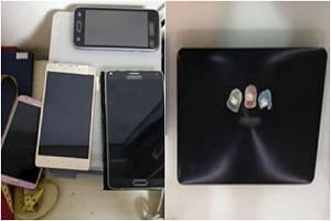 More than 10 electronic devices were seized from four male suspects who were arrested for their suspected involvement in circulating obscene materials and promoting vice activities through the SG Nasi Lemak Telegram chat group.