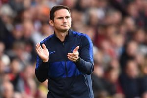 Chelsea's English head coach Frank Lampard gestures on the touchline during the English Premier League football match between Southampton and Chelsea at St Mary's Stadium in Southampton, southern England on Oct 6, 2019.