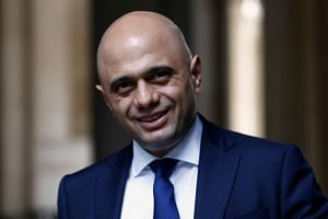 Britain's Chancellor of the Exchequer Sajid Javid is seen outside Downing Street in London, Britain, on Oct 16, 2019.