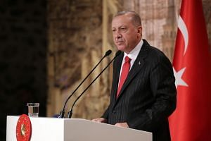 President Tayyip Erdogan underlined Ankara's ambition to establish a presence along 480km of territory inside Syria.