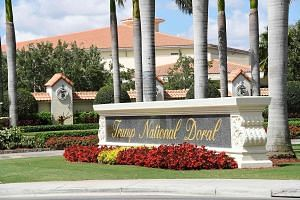 U.S. PRESIDENT DONALD TRUMP, in a tweet about the reversal, noting the Trump National Doral golf resort's (above) positive features for hosting a large gathering.