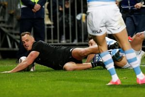 New Zealand's Israel Dagg in action during a match against Argentina Pumas on Sept 9, 2017.