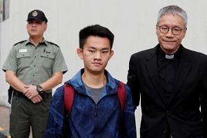 Chan Tong-kai leaves Pik Uk Prison, in Hong Kong, on Oct 23, 2019.