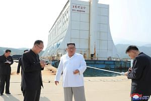 North Korean leader Kim Jong Un inspects the Mount Kumgang tourist resort in a picture released on Oct 23, 2019.