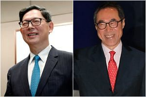 Former Hong Kong Monetary Authority chief Norman Chan (left) and former chief secretary Henry Tang are rumoured to be possible contenders to succeed Mrs Carrie Lam as Chief Executive.