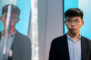"""I strongly condemn the government for conducting political screening and censorship, depriving me of my political rights,"" said Joshua Wong on his Facebook page."