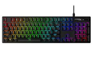 The new HyperX Alloy Origins mechanical gaming keyboard has linear-style switches, dubbed HyperX Red, that are designed for hectic e-sports games.