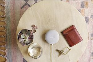 The Nest Mini looks identical to the previous version - like a large round pebble.