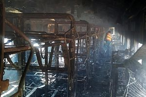 Some of the train passengers had been cooking breakfast when two of their gas cylinders exploded, says a Pakistan Railways official.
