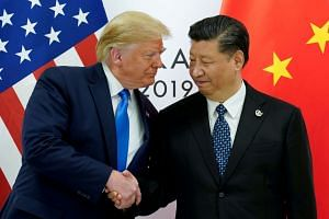 US President Donald Trump meets China's President Xi Jinping at the G-20 leaders summit in Japan in June 2019.