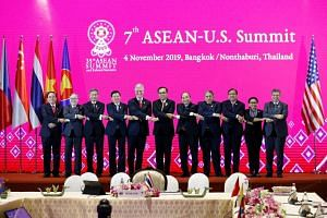 Most countries sent their foreign ministers to the 7th Asean-US Summit in Bangkok on Nov 4, 2019. Only three prime ministers attended - Laos' Thongloun Sisoulith, Thailand's Prayut Chan-o-cha and Vietnam's Ngyuen Xuan Phuc (fourth, sixth and seventh