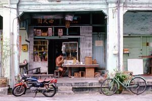 One of the photos that will go on display is an image of the Say Tian Hng Buddha Shop in Gemmill Lane in 1988.