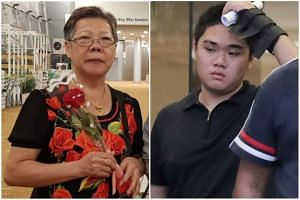 Hung Kee Boon (right) was charged with causing the death of logistics assistant packer Ong Bee Eng by performing a rash act.
