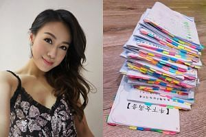Jacqueline Wong posted a photo of a stack of scripts for TVB serial Finding Her Voice in her latest Instagram post.