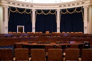 The hearing room where the first open impeachment hearing by the House Intelligence Committee will take place in Washington on Nov 12, 2019.
