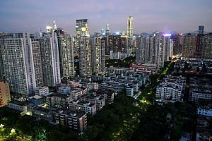 Residential buildings and offices in Shenzhen, Guangdong Province, China, on Sept 6, 2019.